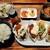 魚イタリアン&オイスター Rovin - サラダに惣菜2種、味噌汁やライス付き、手作り牡蠣フライと焼き牡蠣食べ比べランチ1,628円