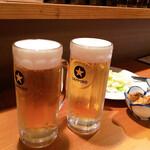 焼とり家族 - 生ビール乾杯