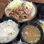 佐渡 - 料理写真:♪日替り水曜(豚肉生姜焼き定食)¥760