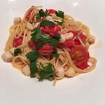 143685817 - 「スパゲッティ 小柱とフレッシュトマトのアーリオオーリオ」