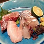宮崎風土 くわんね - ⚫旬魚のお造り 宮崎直送甘醤油