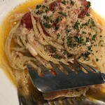 トラットリア マッサ - フルーツトマト蟹ペペロンチーノ 1,400円