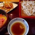 京都高台寺 天風 - チラシ寿司と盛り蕎麦セット950円
