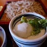 京都高台寺 天風 - 薬味は大根おろしとネギ
