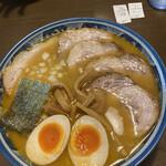 郡山大勝軒 - 味噌ラーメン+チャーシュー+食べログクーポン煮卵無料