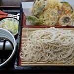 砂場 - 料理写真:野菜天もり蕎麦  ¥1,050(税込)
