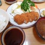 とんかつ秀 - 料理写真:えびかつ定食¥1500