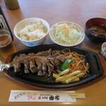 鳥料理 由布 - 由布焼定食(地鶏) 1150円(税別) (2020.8)