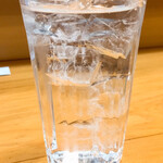 おでん庄助 - 芋焼酎木挽の水割り300円別