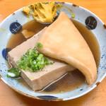 おでん庄助 - おかわりの豆腐100円別、はんぺん150円別