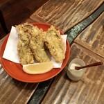 東白庵 かりべ - 牡蠣天ぷら
