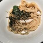 南欧田舎料理のお店タパス - 明太子とアオリイカのスパゲティ(980円)