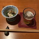 恵比寿 吉乃坐 - お通し タコのポン酢和え