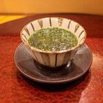 143747228 - 青海苔の茶碗蒸し