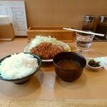 むさしや - 上ロースかつ定食(ご飯大)