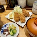 とんかつ 寿々木 - 牡蠣フライ