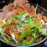 麺屋彩々 - 辛味噌和え麺(チャーシュートッピング)