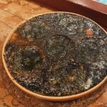 ビストロフジ - サザエとキノコの肝バター焼
