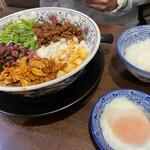 担担麺専門店 DAN DAN NOODLES. ENISHI - 料理写真:坦々麺と温玉セット