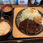 播磨の里 - 料理写真:味噌カツ&エビフライ定食A