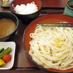 四代目横井製麺所 - 冷やしカレーうどん大+ごはん