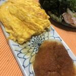 田丸屋本店 - これはおまけの出汁巻き卵。六本木の小料理屋さんにコツとレシピを教えていただきました