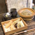 蕎麦料理 はやうち - 料理写真:天ザル¥1600