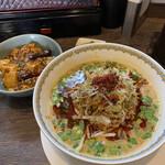 雲林坊 - 汁あり担々麺と小麻婆丼¥1.250