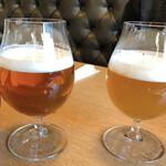 BiOsteria Komakine - on the cloud(右)  750円+税  フルーツジュースの様なビール DHC Premium RICH ALE(左)  750円+税  バランス良く美味しいビール