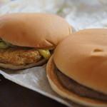 マクドナルド - 料理写真:チキンクリスプ&ハンバーガー