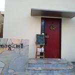 14383620 - オシャレで落ち着いた入り口。「本日は予約のお客様のみ」とのお断りが黒板に書かれていました。