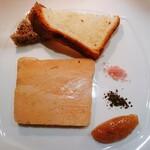 ビストロ アギャット - フォアグラ、無花果ジャムで頂く胡桃パン