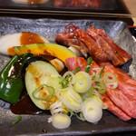 ソウルカルビ - 焼き野菜、牛カルビ、和牛特上カルビ