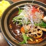 タイガーカレー - プルプル牛筋野菜カレー(スタミナスープ)(1760円)