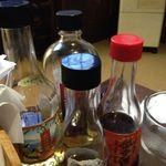 14385711 - テーブルには4種類の保命酒だよ。