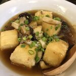 おきらく食堂 - 揚げ出し豆腐のキノコあんかけ