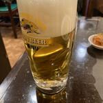 海南飯店 - 生ビール
