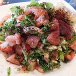 Stella Dining&Bar - Çoban Salata(羊飼いのサラダ)「チョバンサラダはシンプルな定番サラダの一つです。」Shepherd's Salad. (Simple & Basic vegetable salad of Turkey) ※メニュー表記通り