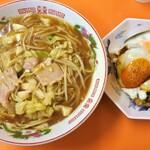 白龍 - チャンポンと焼豚玉子飯のセット