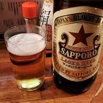 もつ焼き 丸松 - 赤星 大瓶@580+税