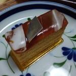 143879350 - もう♡遠吠えしたくなるほど美味しい♡キャラメル・サレ⭐️⭐️こんなに美味しいケーキは初めて❣️キャラメルのアートな風味、塩、バターのバランスが素晴らしい❤️これぞ都会のケーキ⭐️感動したっ❣️