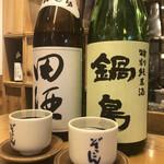 ぬる燗 ぞっこん 離れ - 田酒 特別純米・鍋島 特別純米♪