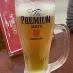 焼肉市場 明月館 - 生ビール(中)