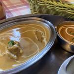 インド料理 まいた - 料理写真:Bランチ[2種類カレー]