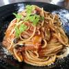 Hidamari - 料理写真:きのことベーコンのトマトクリームパスタ