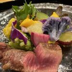 IKOI japanesecuisine - カリフラワーに色んな色ついてました。