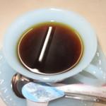 飯田食堂 - コーヒー付きでした。