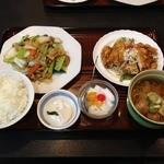 葵飯店 - 八宝菜&油淋鶏(ミニラーメン付き)
