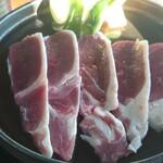 そば心 ゐ田 - 鴨肉(バルバリー)