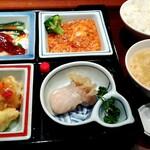 中国料理随園 - 料理写真:西京弁当。 これに杏仁豆腐(昔ながらの菱形のだけど)付きます。
